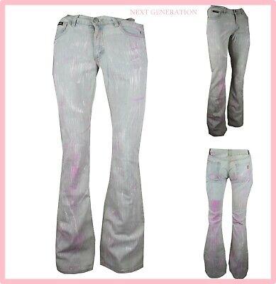 jeans denim da donna a zampa di elefante vita bass bootcut vintage a campana 42