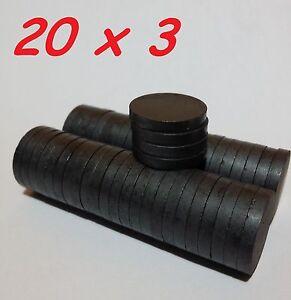 30-MAGNETI-FERRITE-20X3-MM-CALAMITA-POTENTE-FIMO-CERAMICA-MAGNETE-CALAMITE