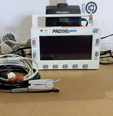 Protocol Welch Allyn Propaq 202 El Vital Signs Monitor W Cables Power Supply