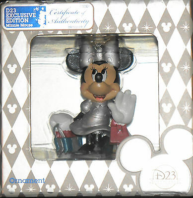 Disney Store D23 Exclusive 25th Anniversary Minnie Mouse Ornament