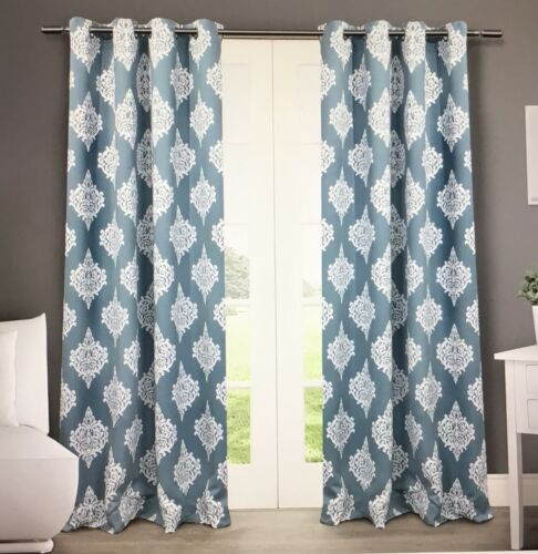 Exclusive Home Curtains 2pack Medallion Blackout Grommet Top