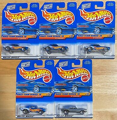 '67 Camaro Hot Wheels #725 w/5 Variations Including 1998 Zamac Convention Excl