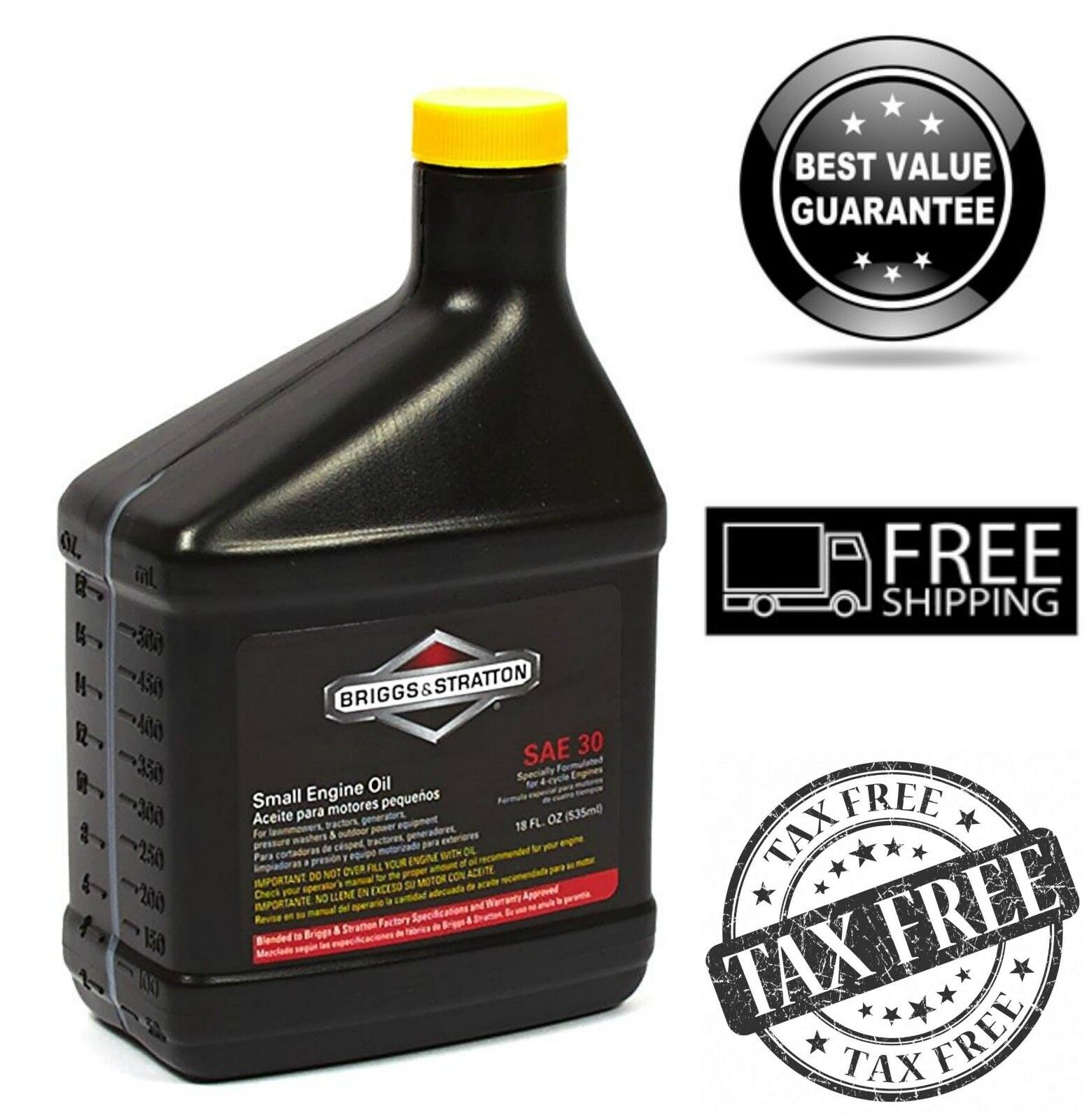 Briggs & Stratton SAE 30W Lawn Mowers Engine Oil for Higher
