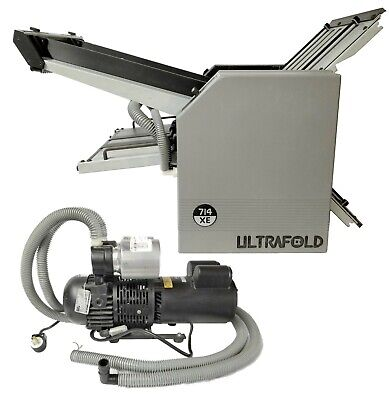 Will Ship Baum 714xe Ultrafold 714c-2-air Feed Compact Paper Folder W Pump