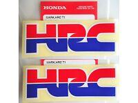 2 x HONDA DECAL STICKER BADGE L 85mm x H 30mm 100/% Genuine Honda Racing Corporation HRC