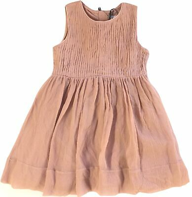 New Burberry Kids Louisette Ash Rose Girl Dress Size 4Y