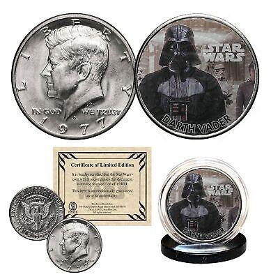 DARTH VADER - STAR WARS Officially Licensed 1977 JFK Half Dollar U.S. Coin