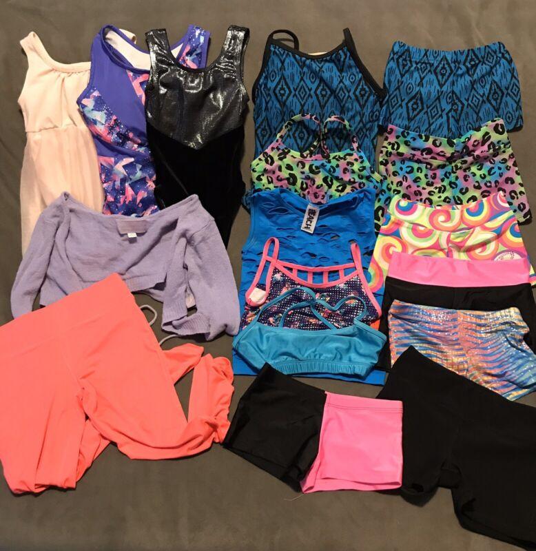 Girls Dancewear Lot Leotards Tops Shorts Size Small (6-7) Child Various Brands