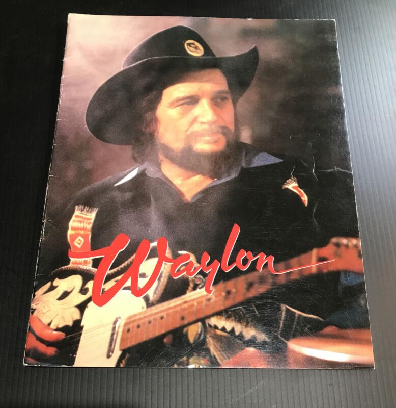 Vintage WAYLON JENNINGS 1984 NEVER COULD TOE THE MARK TOUR PROGRAM BOOK
