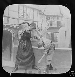 Glass-Magic-lantern-slide-SALLY-IN-OUR-ALLEY-NO-6-C1890-VICTORIAN-TALE