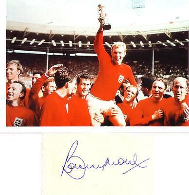 Who wouldn't want footy legend Bobby Moore's autograph?