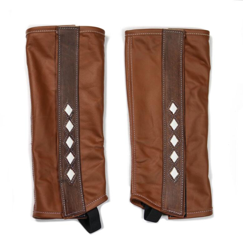 Polainas Cafe Piel Charras (S) Leather Brown Half Chaps