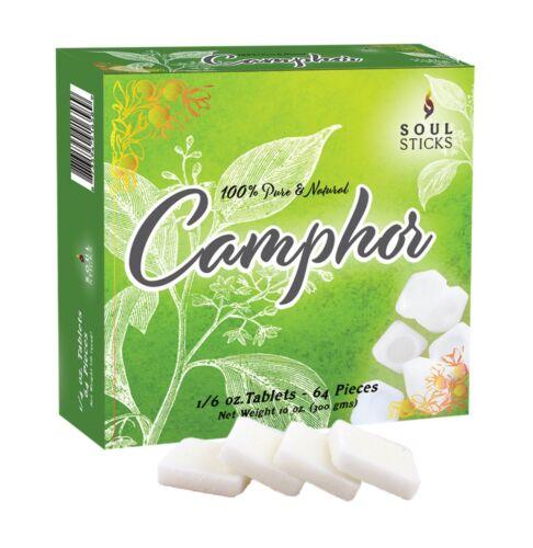 Camphor Tablets | Soul Sticks 100% Natural Refined Camphor Blocks