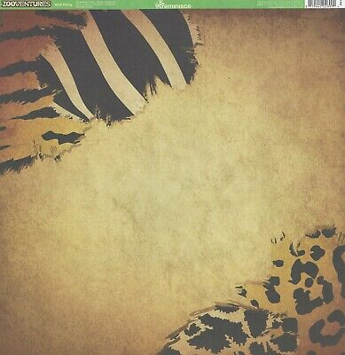 REM- Wild Thing Scrapbooking Paper 12x12 ZA-003, Zoo Leopard, Tiger, Zebra