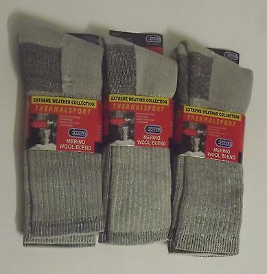 Merino Wool Blend Thermal Hiking Socks 6 Pairs Of Mens Sock Size 10-13 The (The Best Thermal Socks)