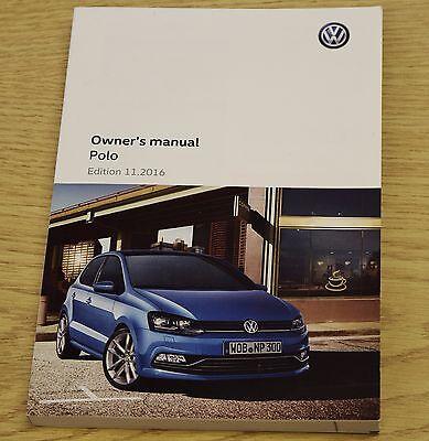GENUINE VW POLO HANDBOOK OWNERS MANUAL 2014-2017 LATEST BOOK PRINTED 11.2016