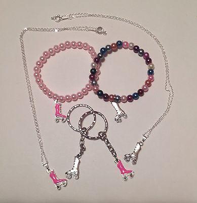 Roller skate necklace / bracelet / keyring party bag favour (pick own qty) - Roller Skate Favors