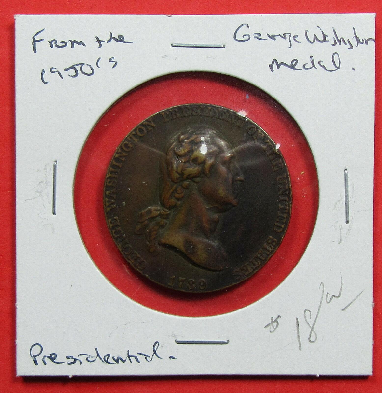 1950 s George Washington Medal. High Relief Strike. Presidential. 720117  - $18.00