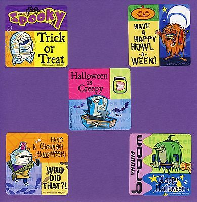 15 Halloween Cartoon- Large Stickers - Party Favors - Rewards