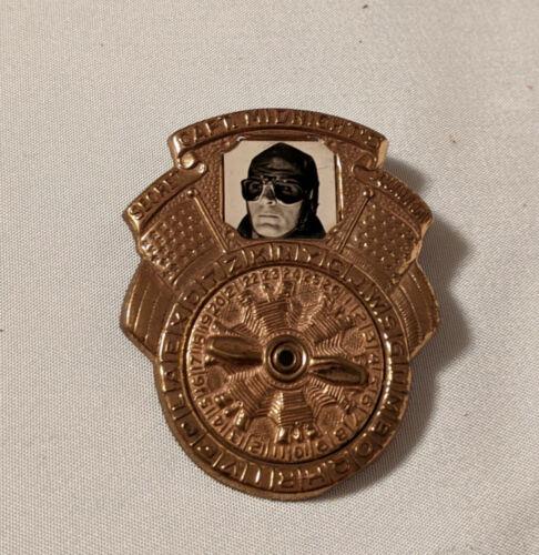 1942 Captain Midnight Photomatic Decoder Badge Ovaltine Premium Nice Photo