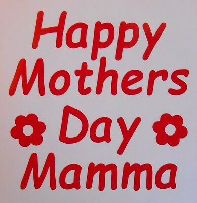 Happy Mothers Day Mamma Stickers Ideal for Glasses, Mugs, Cards, Crafts, - Crafts For Mothers Day