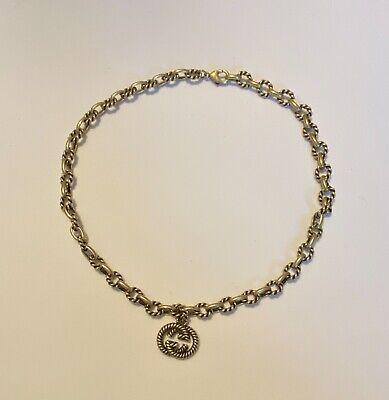 Gucci choker in antiqued silver XR 429