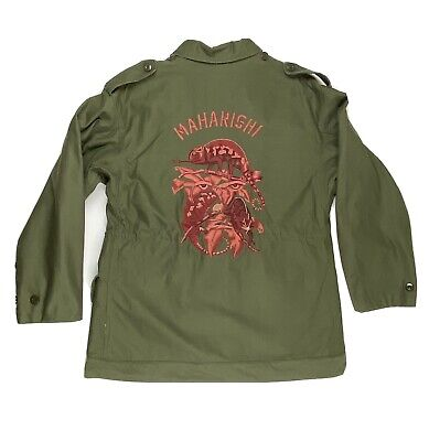 Vintage Maharishi Embroidered Field Jacket Size Large Olive