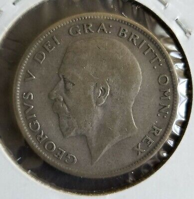 UK British 1929 Half Crown, .500 Silver, King George V