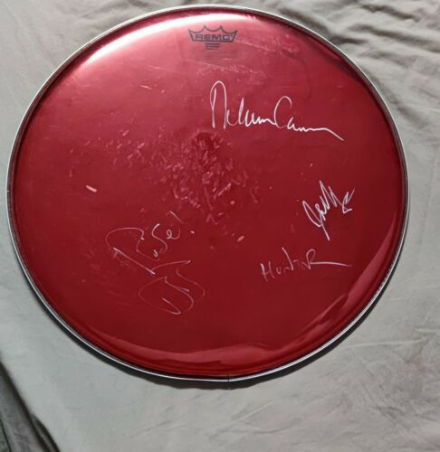 AFI concert used drumpad signed by band