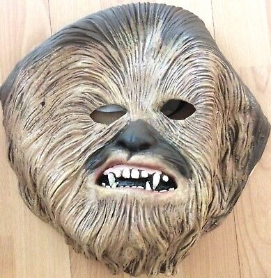 Used Star Wars Chewbacca Halloween Holiday Character Mask Great Gift Idea! - Halloween Ideas Masquerade Mask