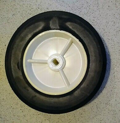 8 Inch Solid Hard Rubber Replacement Tire Wheel Pvc Rim Rectangle Hub Nos