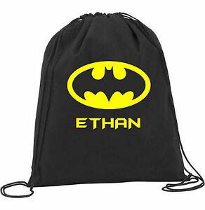 Funky-Personalised-Batman-Superhero-Kids-Nursery-PE-School-Drawstring-Bag