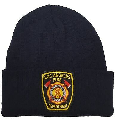 Los Angeles fire department Beanie Navy Hat LAFD
