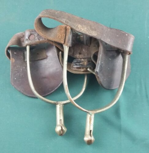 WW1 Canadian Cavalry Spurs With Issue Leather Straps
