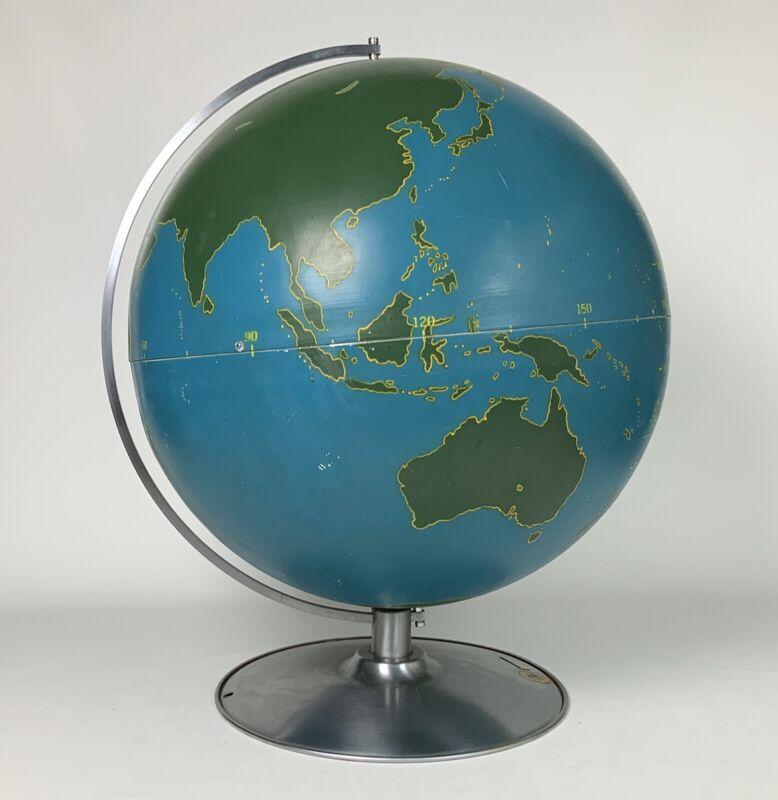 Large Vintage 1940s Mid Century Mod World Globe A J Nystrom