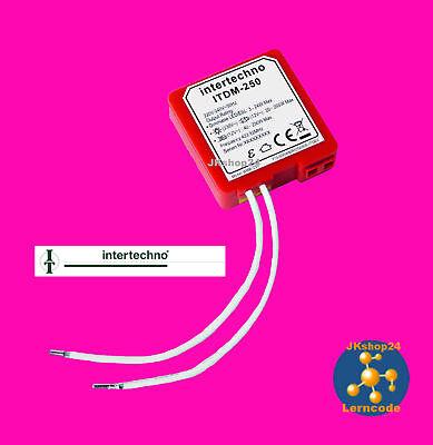 ITDM-250 Funk-Dimmer-Modul LED, ESL, HV-/NV-Halogen, Glühlampen 230V/AC 250 Watt online kaufen
