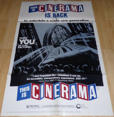 THIS IS CINERAMA R 1973 ORIGINAL 1 SHEET MOVIE POSTER