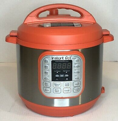 Instant Pot Duo RED 60 120V-60Hz 7-in-1 Multi-Use Programmable Pressure 6 Qt-EUC