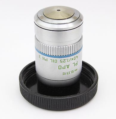 Leica Pl Apo 40x 1.25 Oil Ph3 Phase Contrast Microscope Objective Planapo
