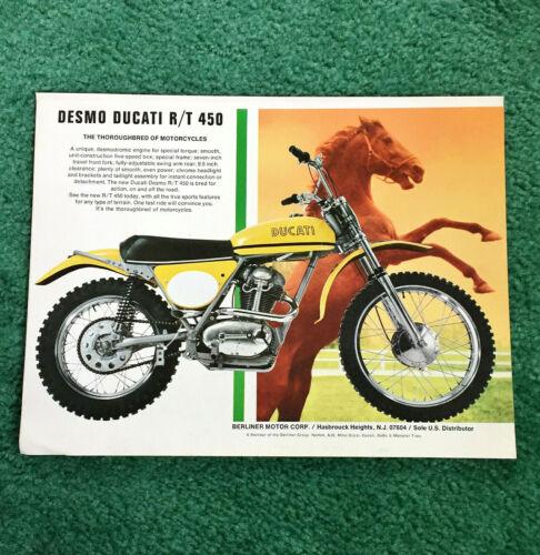 ORIGINAL 1970 DUCATI MOTORCYCLE MAGAZINE AD R/T 450 RT450 POSTER? T-SHIRT?