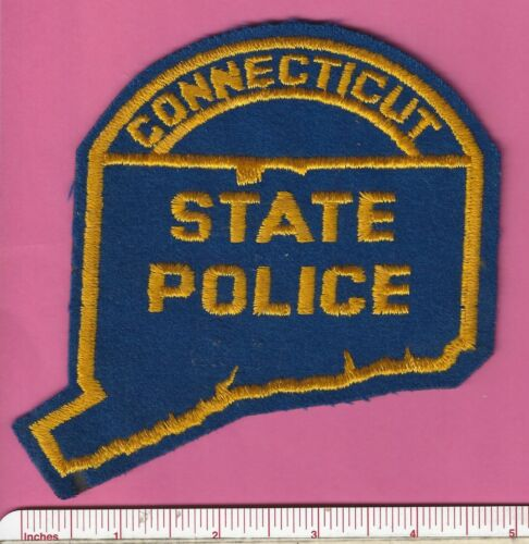 Old Connecticut Police CT State Shaped Highway Patrol Trooper Shoulder Patch
