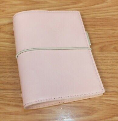 Genuine Filofax Domino Soft Leather Pink 6 Ring Pocket Organiser Only Read