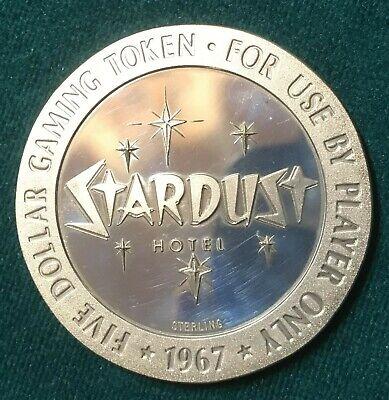 Stardust Hotel $5 1967 Sterling Silver Gaming Token Las Vegas, NV