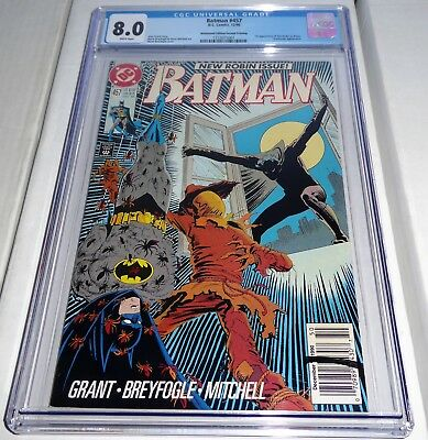 Batman #457 Newsstand Edition 2nd Second Printing CGC 8.0 1st App Tim Drake RARE