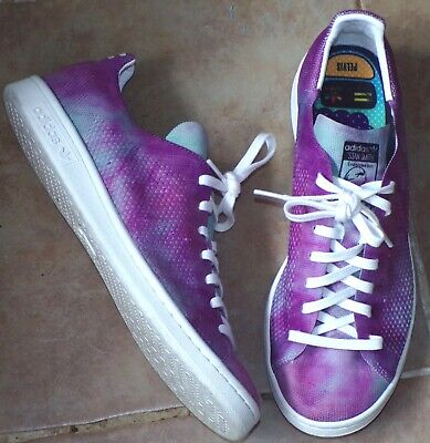 MENS SZ 9.5 ADIDAS PHARRELL WILLIAMS STAN SMITH TIE DYE SNEAKERS TRAINERS