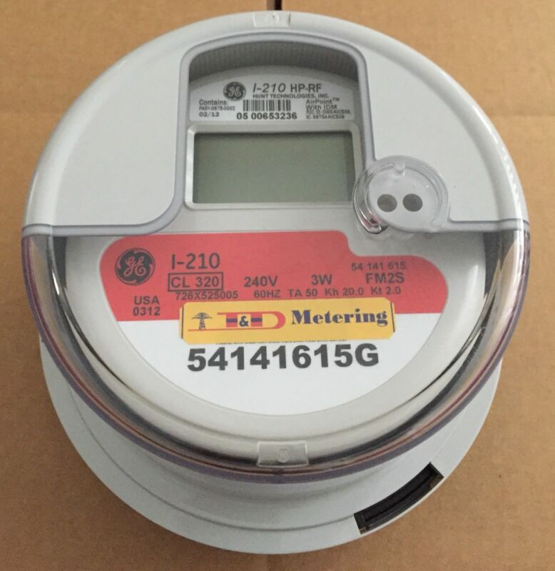 GENERAL ELECTRIC (GE) - WATTHOUR METER (KWH), MODEL I-210, 240 VOLTS, 320A, FM2S
