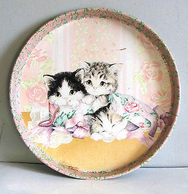 BonEful Fabric FQ Cotton Quilt Gray B/&W VTG Retro Kitty Cat Calico Flower Block