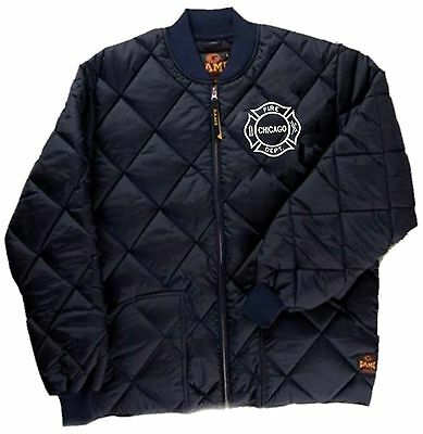 Chicago Fire Department Quilted Jacket W/Embroidered Maltese Logo As Seen On TV ()