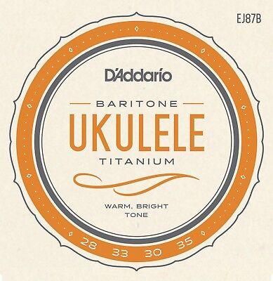 D'Addario EJ87B Titanium Ukulele Strings Baritone