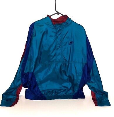 Vtg Nike Halfzip Windbreaker Jacket Size XL Red/Purple/Cyan